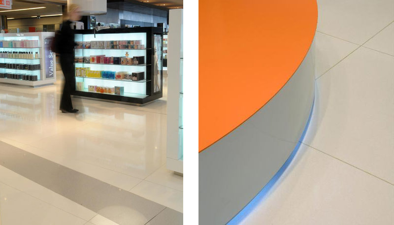 Duty Free Shop Carrasco Airport - Uruguay | Santamargherita Surfaces